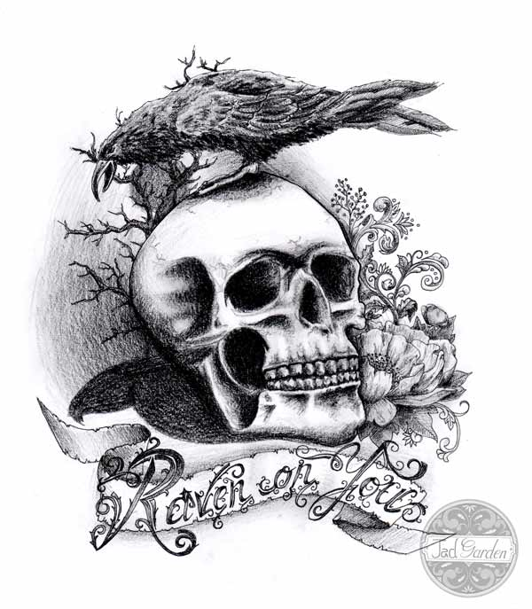 Dessin Tete De Mort Femme